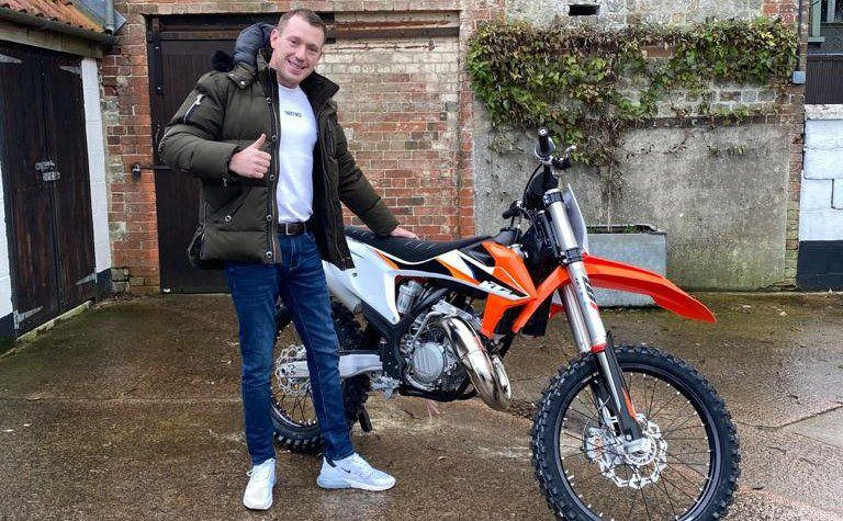 Winner of KTM SX150 Bike